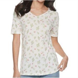 Awake Cactus White Short Sleeve Shirt